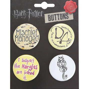 Harry Potter Mischief Managed Pin Set