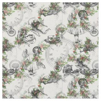 Alice in Wonderland Holly Stripe Fabric