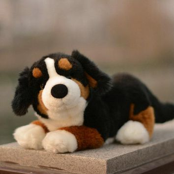 Bernese Mountain Dog Stuffed Animal Plush Toy 11""
