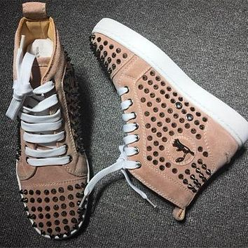 Cl Christian Louboutin Louis Spikes Style #1858 Sneakers Fashion Shoes