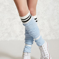 Striped Ribbed Leg Warmers