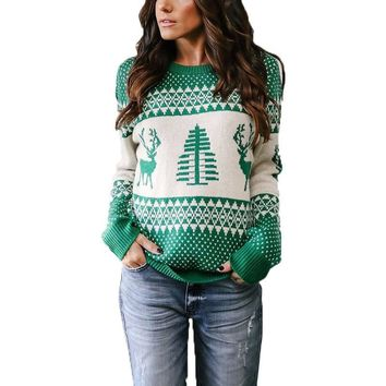 Unisex Men Women Ugly Christmas Sweater Vacation Santa Elf Pullover Funny Womens Men Sweaters Tops Winter Clothing
