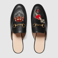GUCCI Princetown slipper with appliqués