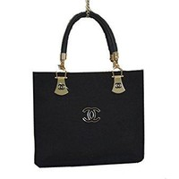 Chanel Black Canvas Handbag