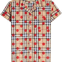 Mallard Dot Checked Cotton Shirt - Burberry | WOMEN | KR STYLEBOP.COM