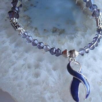 "Alzheimers & Pancreatic Cancer Bracelet (201)   7 1/4"", ADHD, ADD, Homelessness, cancer awareness collection, unique visions by jen"