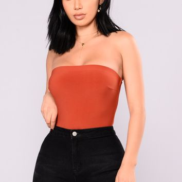 Tubular Bodysuit - Rust