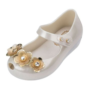 Mini Melissa Ultragirl Flower Mary Jane Flat, Toddler