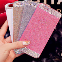 Glitter powder Hard phone case for iphone 5 5s 6 6s