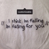 Custom Lyrics Embroidered Tshirt