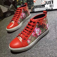 Gucci Men's Gg Guccissima Leather Fashion High Top Sneakers Shoes