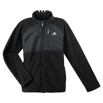 adidas Polar Fleece Mock Turtleneck Jacket