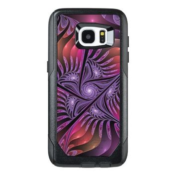 Colorful Fantasy Abstract Modern Purple Fractal OtterBox Samsung Galaxy S7 Edge Case