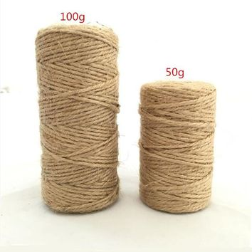 Natural Jute Twine Best Arts Crafts Gift Twine Christmas Twine Industrial Packing Materials Durable String for Gardenin  AA8079