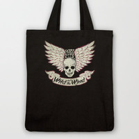 WINGED SKULL Tote Bag by Miran Elseewi | Society6
