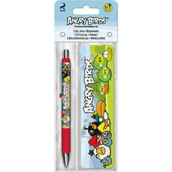 Angry Birds Gel Pen & Bookmark Set School Writing Gift Official Licensed NEW
