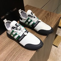 2020 New A|X Armani Exchange Men's Low Top Lace Up Sneaker Armani Exchange Men's Dip Dye Knit Sneaker best quality all size and colors