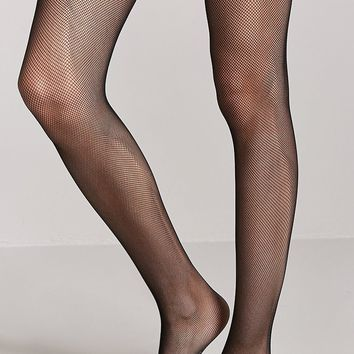 Micro-Fishnet Tights