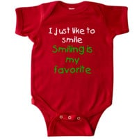 I just like to smile Smiling is my favorite Infant Creeper Red $16.99 www.inktastic.com