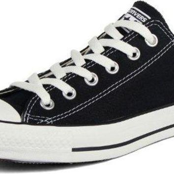 ONETOW Converse Chuck Taylor All Star Low Top Unisex Canvas Oxford Shoes (6 Mens D(M) US/8 Womens B(M) US, Black)