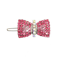 Ribbon Bow Swarovski Hair Clip / Dog Barrette