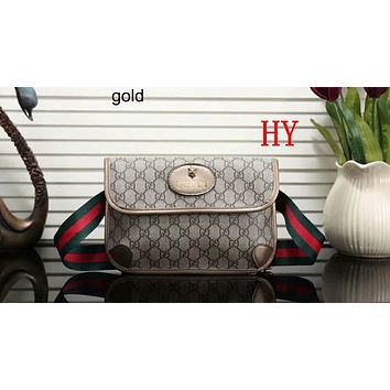 GUCCI 2018 Women's Delicate Casual Trendy Shoulder Bag F-LLBPFSH Gold