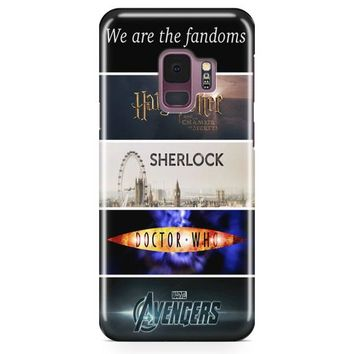 Fandoms Harry Potter Sherlock Doctor Who Avengers Samsung Galaxy S9 Case | Casefantasy