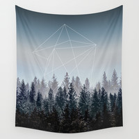 Woods Wall Tapestry by Mareike Böhmer Photography