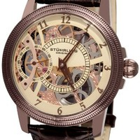 Stuhrling Original Men's 228.3365K77 Brumalia Mechanical Brown Leather Strap Watch