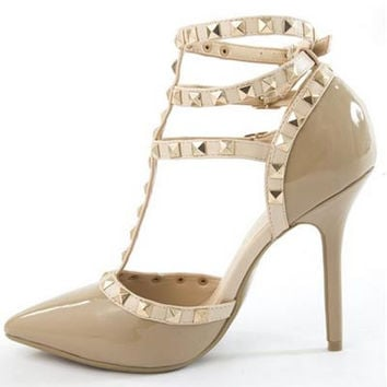 Looking For a Stud Heel- Nude