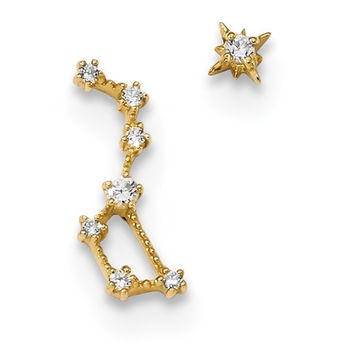 14 KT Little dipper star earrings