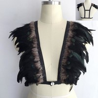 Feather Bralettes and Epaulettes (21 Styles)