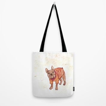 French bulldog Tote Bag by metaldom77