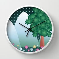 The meadow Wall Clock by ArigigiPixel