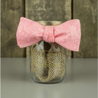 The Salmon Leaves Bow Tie