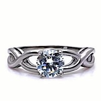 Infinity Stainless Steel 1.25c Russian Ice on Fire Diamond CZ Promise Friendship Ring (sizes 5 to 10)