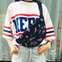 Paper Planes Print Oversize Fanny Pack