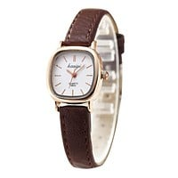 Ladies Square Watch - Casual Leather Strap Thin Watch