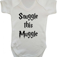 Snuggle this muggle baby grow Vest bodysuit Onesuit