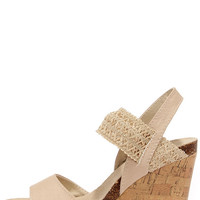 Madden Girl Feliciti Natural Wedge Sandals