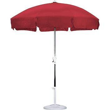 Red 7.5 Ft Patio Umbrella with Push Button Tilt