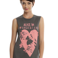 Disney Alice In Wonderland Falling Heart Girls Muscle Top