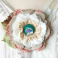 Button Flower Brooch - Unique Gift for Women and Girls