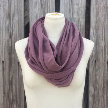 WASHED BURGUNDY Infinity Scarf - Mulberry Eternity Scarf  - Burgundy Loop Scarf
