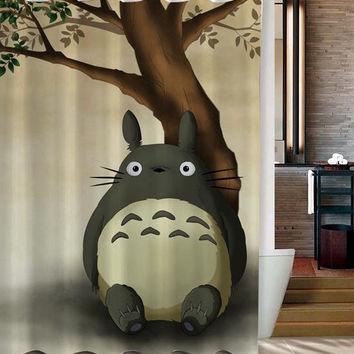totoro custom shower curtain
