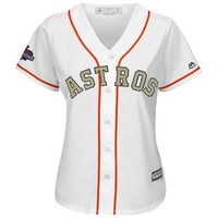 Women's Houston Astros Majestic White 2018 Gold Program Cool Base Team Jersey