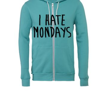 I Hate Mondays - Unisex Full-Zip Hooded Sweatshirt