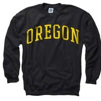 Oregon Ducks Black Arch Crewneck Sweatshirt