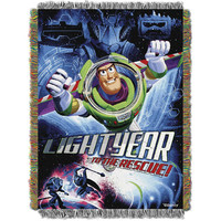 Toy Story Buzz Victorious 051  Woven Tapestry Throw Blanket (48x60)