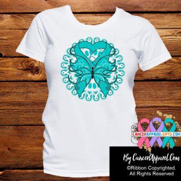 Ovarian Cancer Stunning Butterfly Shirts